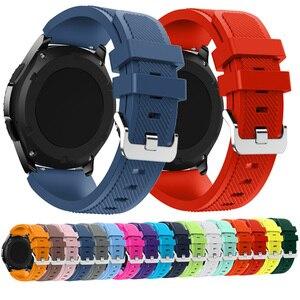 Image 1 - 22Mm Wrist Strap Voor Samsung Galaxy Horloge 3 45Mm Silicone Horlogeband Armband Band Voor Huawei Horloge GT2 Gt 46Mm 42Mm Gt 2e 2 Pro