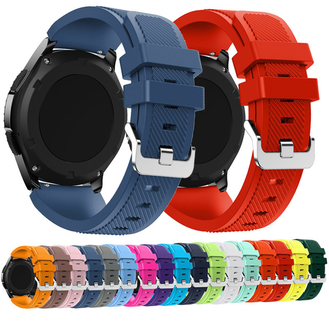 22mm Wrist Strap For Samsung Galaxy Watch 3 45mm Silicone Watchband Bracelet Band For Huawei watch GT2 GT 46MM 42mm GT 2e 2 Pro