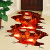 [SHIJUEHEZI] Magma 3D Wall Sticker Home Decor Living Room Bedroom Floor Decoration Removable Vinyl Material Decorative Art 4