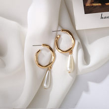Gold Silver Color Round Small Hoop Earring for Women Alloy Trendy Jewelry wholesale Earings Women Accessories(China)