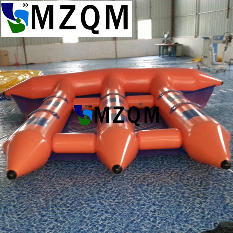 MZQM  Inflatable Water Games Banana Boat Inflatable Fly Fish Banana Boat 6 People Playing On The Beach For Sale wb006 free shipping funny water games inflatable water balls walk water inflatable roller ball summer water games