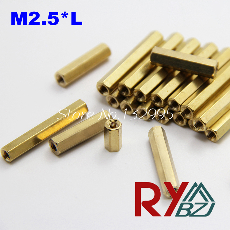 100pcs/lot  M2.5*L  Brass Standoff Spacer Female Female Spacing Screws Brass Threaded Spacer hex spacer/BSSFFNNP M2.5 60pcs set good quality brass m3 standoff spacer female spacing screws hex threaded spacer pillar nuts length 4 6 8 10 12 18 20mm