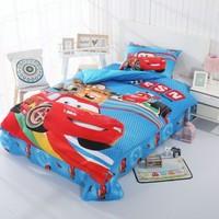 Disney Cartoon Mc Queen Cars Spiderman Boys Bedding Set Duvet Cover Bed Sheet Pillow Cases Twin Cotton Bedlinen Drop Shipping
