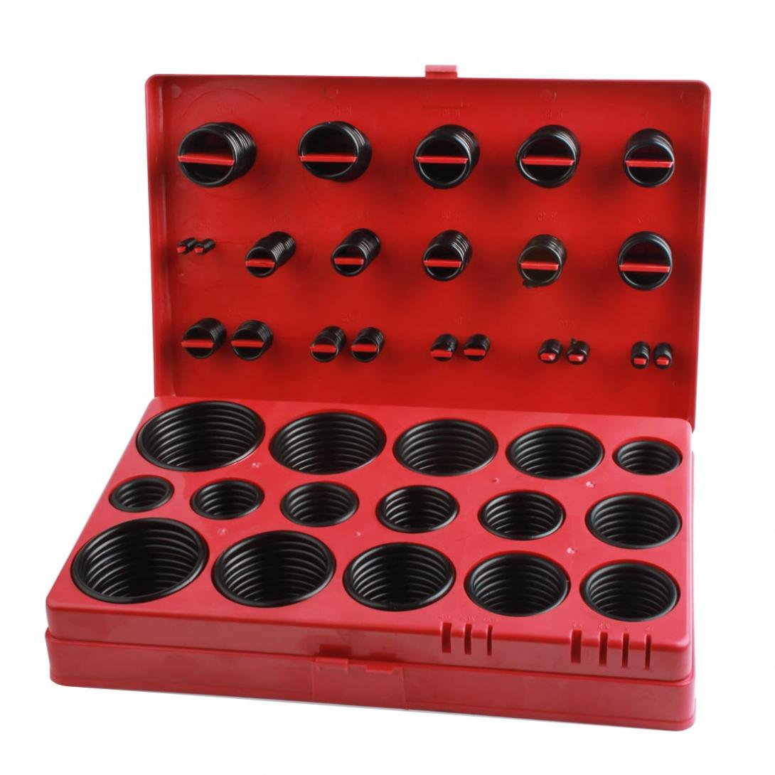 419pcs Rubber Seal O-Ring Assortment Plumbing ORing Universal Metric Kit With A Plastic Tray