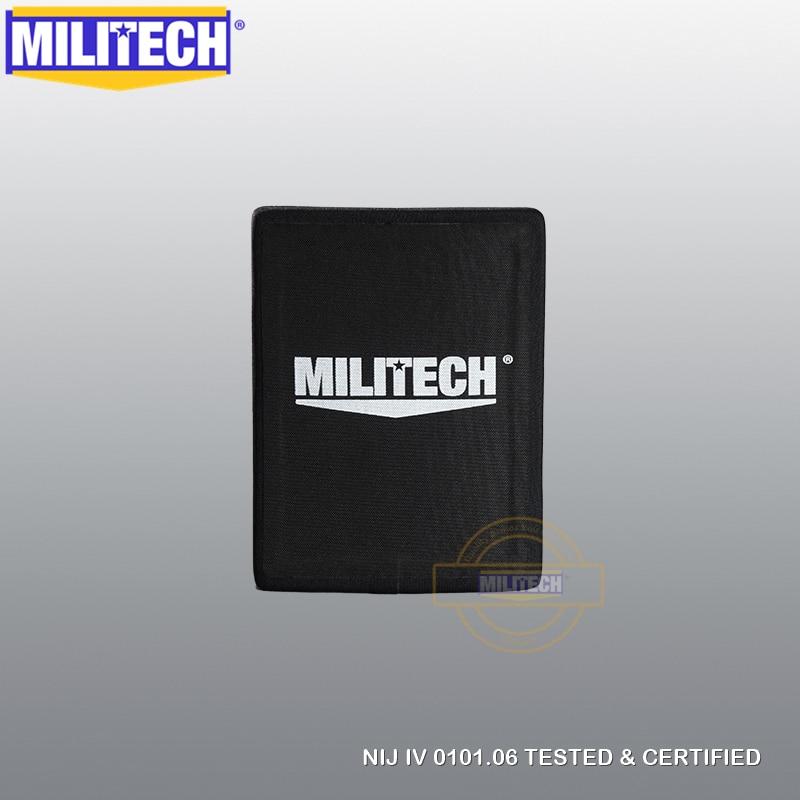 MILITECH 6'' X 8'' NIJ Level IV Stand Alone Bulletproof Side Plate Al2o3 Stand Alone Ballistic ESAPI NIJ Level 4 Armor Panel