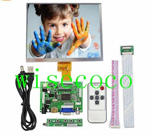 8 polegada IPS 1024*768 tablet tela lcd HJ080IA-01E HE080IA-01D Motorista Placa De Controle De Áudio Para Framboesa HDMI VGA