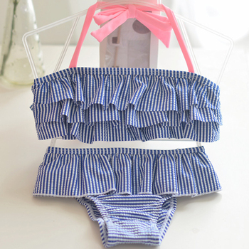 85f831c113 1-8 Years Baby Girl Swimsuit Striped Bathing Suits For Children Two Pieces  Swimwear Beach Bikini Set Girls Biquini Infantil Suit