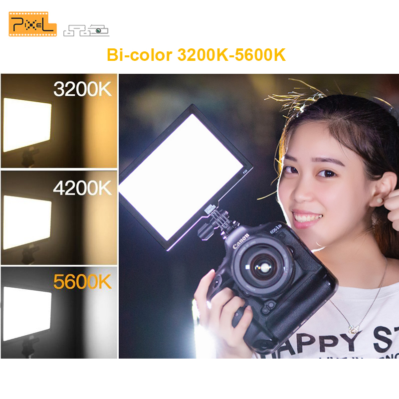 PixeL P20 Bi-Couleur et Dimmable LED Vidéo Lumière LCD Affichage DSLR Studio pour Canon Nikon Caméra DV Caméscope la photographie de mode