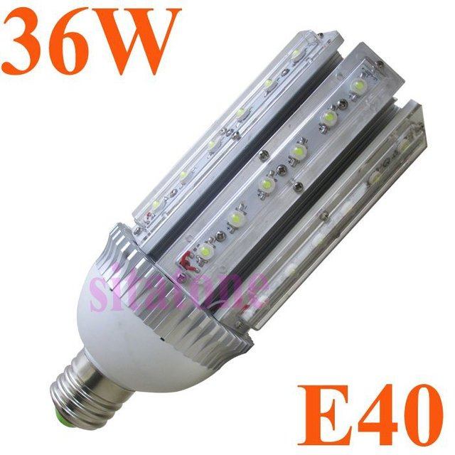 Epistar 36W bulb equal to 250W 360 degree LED bulb E40 36W street light 3 years warranty