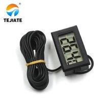 Черный цифровой термометр для холодильника, морозильник, измеритель температуры 26% ВЫКЛ. Длина кабеля: 3 м