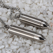 1PC High Quality Portable Waterproof Silver Titanium Necklace EDC Medicine Capsule Tablet Pill Box Drug Case Holder Container(China (Mainland))