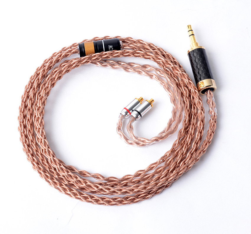 Hand Made DIY 8 Cores Copper Silver Mixed Hifi Music Updated Earphone 3.5mm Cable for SE525 SE535 SE846 UE900 LA DT2