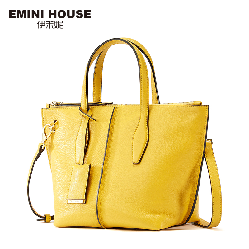 buy emini house 2 sizes genuine leather tote bag high capacity shoulder bags. Black Bedroom Furniture Sets. Home Design Ideas