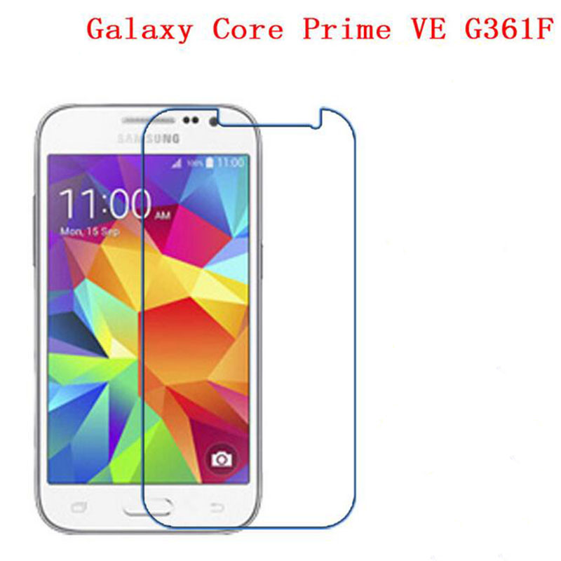ZLYLXL Soft Explosion proof Screen Protector phone film for Samsung Galaxy Core Prime VE G361F (Not Tempered Glass) + wipes