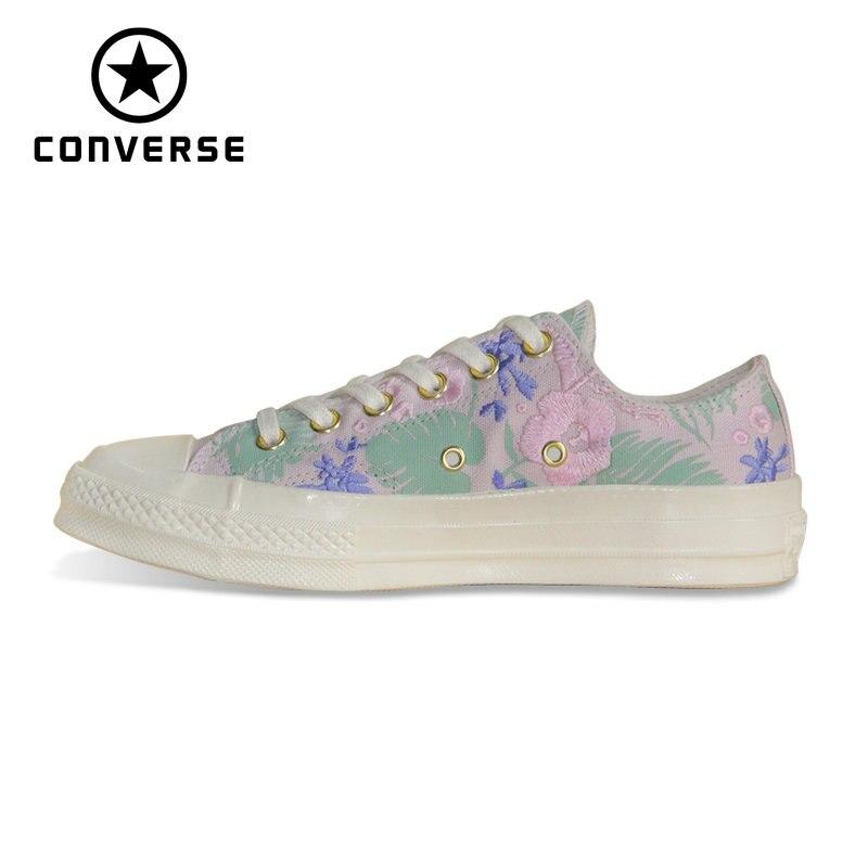Original Converse 1970 S broderie à la main version rétro toutes étoiles chaussures classique unisexe baskets chaussures de skate 160519C