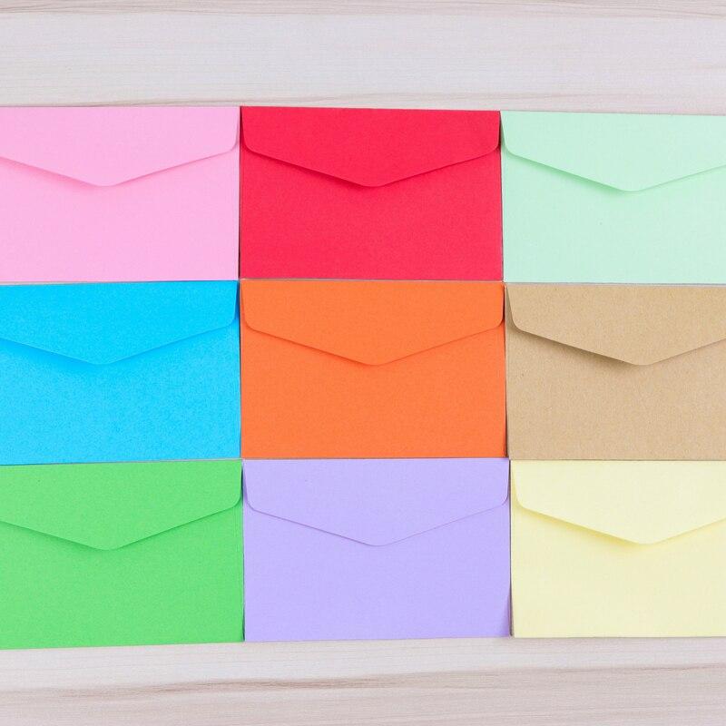Mini Envelope Color Solid Color Bank Card Membership Card Simple Small Envelope 20pcs/lot 11.7*7.9cm