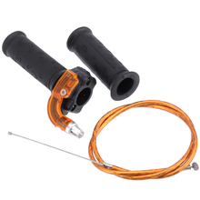For 47 49 cc Mini Dirt Bike Quad ATV 2PCS Restrictable Twist Throttle Hand Grip 3 Stage With Cable Treyues