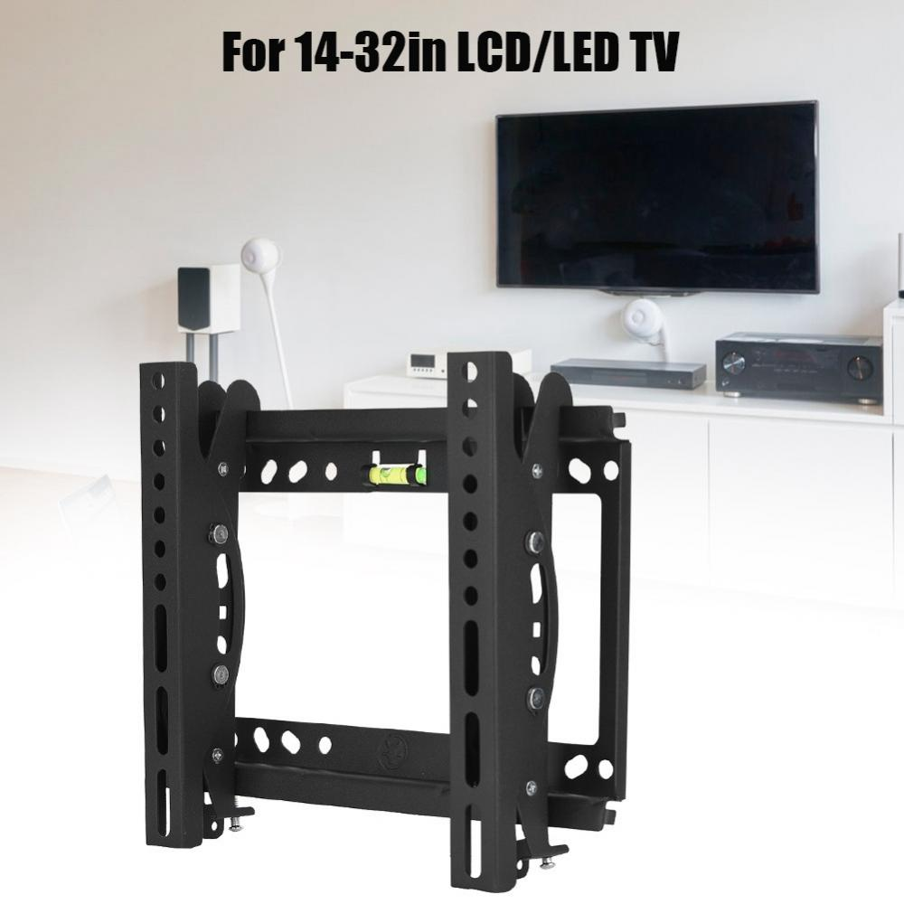 Overseas Shipping 50KG Loading TV Wall Mount 14-32in LCD TV Wall TV Mount with 15 Degrees Adjustment on Each Up & Down ...