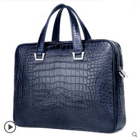ouluoer crocodile men handbag men's bag business bag leather one-shoulder bag for men's belly handbag