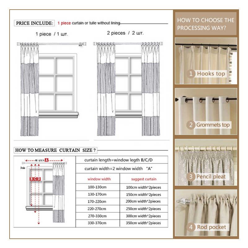 Citygant Тюль Белые Шторы для спальни мягкие Япония стиль шторы для гостиной свежее дыхание вуаль блок цвет прозрачный