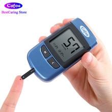Cofoe Yiyue Glucose Meter Codificación gratuita Prueba de diabetes Recolección de medidores de glucosa y 50 / 100pcs Tiras de prueba con agujas de lancetas