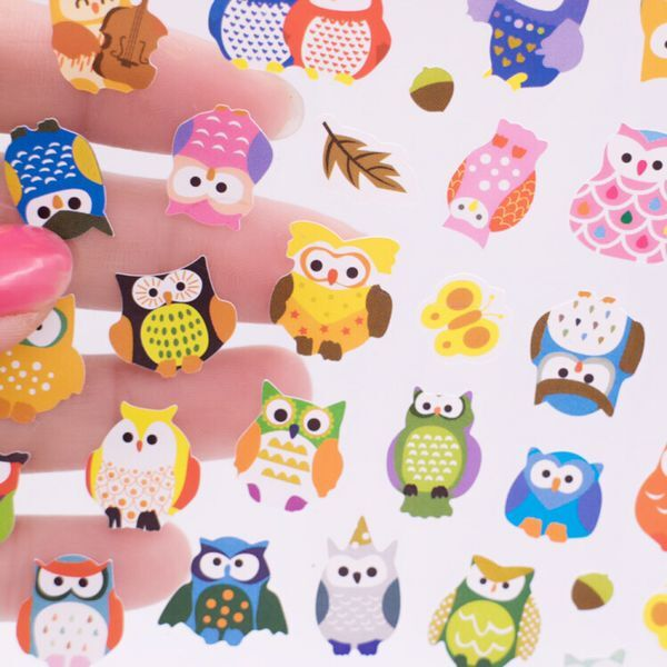 2PCS DIY Cartoon owl transparent Sticker Lovely Calendar for Children Gift  Office stationery school supplies 8332422c2e2