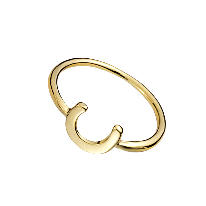 10pcslot fashion cute horseshoe ring goldsilverrose gold color charm midi - Horseshoe Wedding Rings