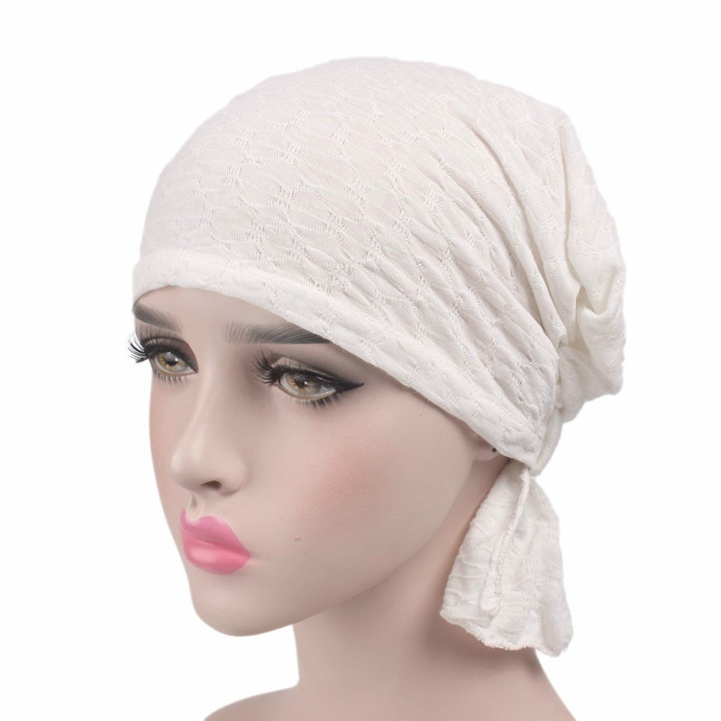 c473cc804 Women Hat Beanie Muslim Hat Wrinkle Ruffle Chemo Bald Scarf Turban Headwear  Women s Fashion Hair Accessories