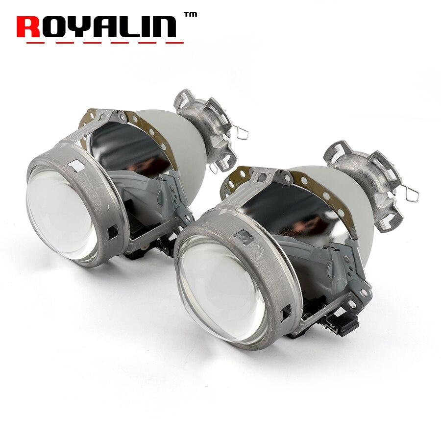 ROYALIN Full Metal E55 Projecteur Lentille G2 3.0 ''HID D2S Lentille de Phare Pour BMW E65 Audi A6 C5 A6L s6 W209 219 251 212 R171 ML320