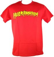 Red Hulkamania Mens T Shirt Wrestling Classic Adult Cotton Man T Shirts Clothing Sports Funny Tops