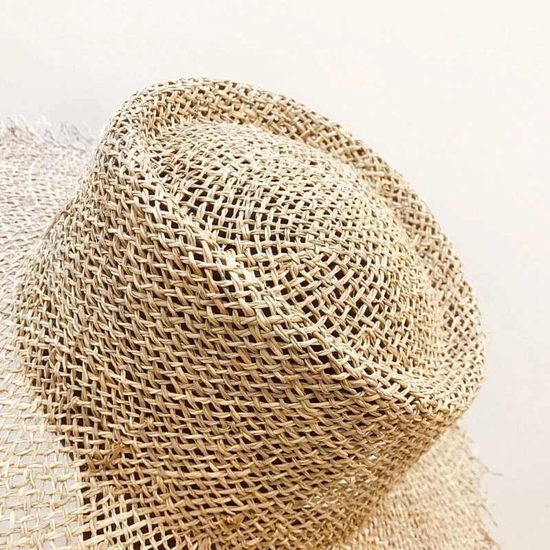 2019 New Fashion Hot Hollow duże rondo kapelusz słońce dla szerokie rondo lato słomy czechy plaża kobiety kapelusze