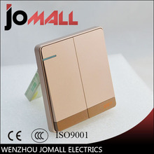 цены на Luxury rose gold slim Wall Switch Panel, Light Switch 2 Gang 2 Way Push Button Rocker Switch  16A,110~250V, 220V  в интернет-магазинах