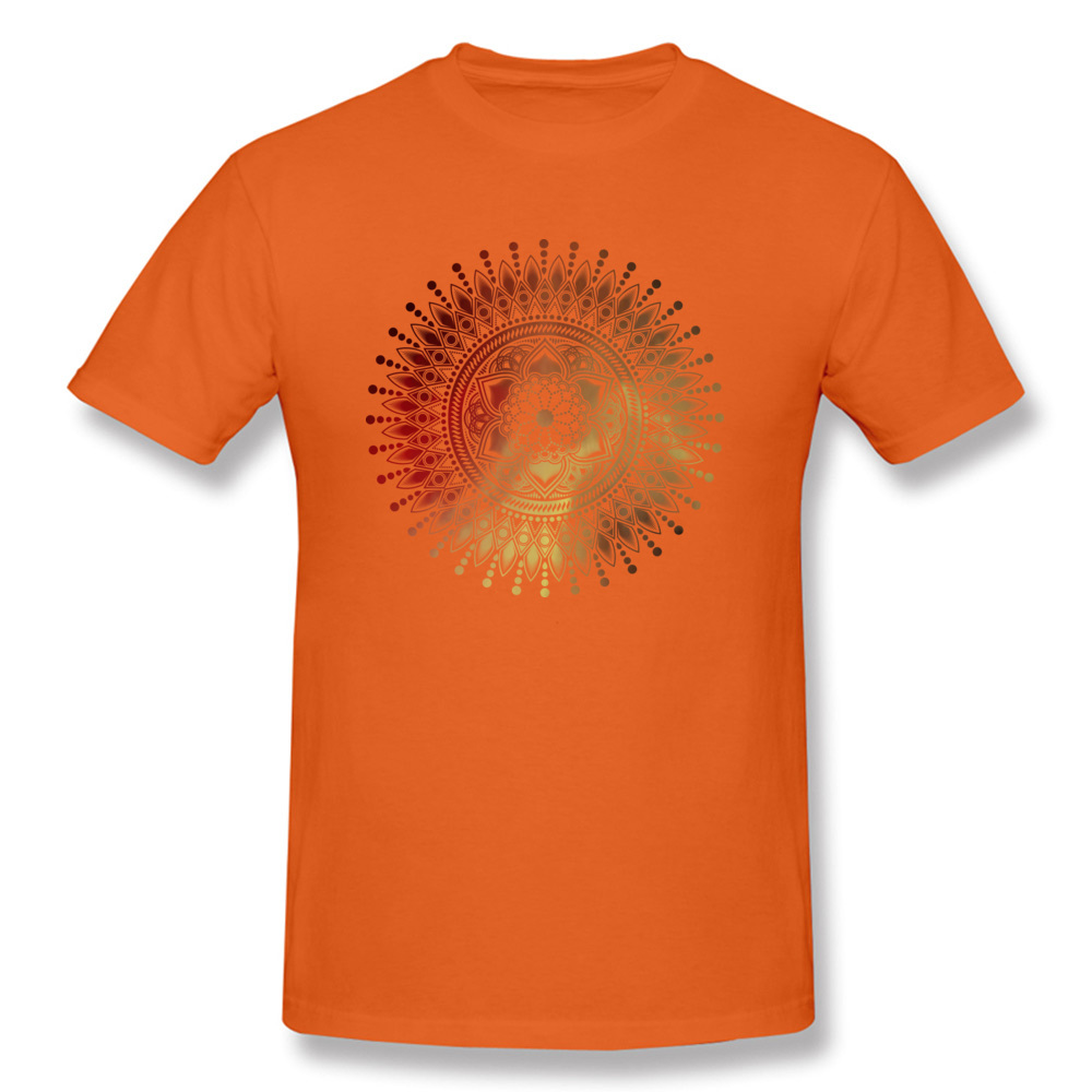 Tops Tees Red Gold Mandala Tshirt Men T shirts Punk Style Design T Shirts Labor Day Latest Short Sleeve Cotton Camisa Cheap in T Shirts from Men 39 s Clothing