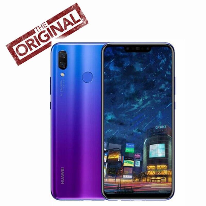 Оригинальный huawei nova 3 6 ГБ 8,1 ГБ Android 128 мобильный телефон Kirin 970 Qcta-core Dual фронтальная/задняя камера 24.0MP + 2.0MP 24.0MP + 16.0MP
