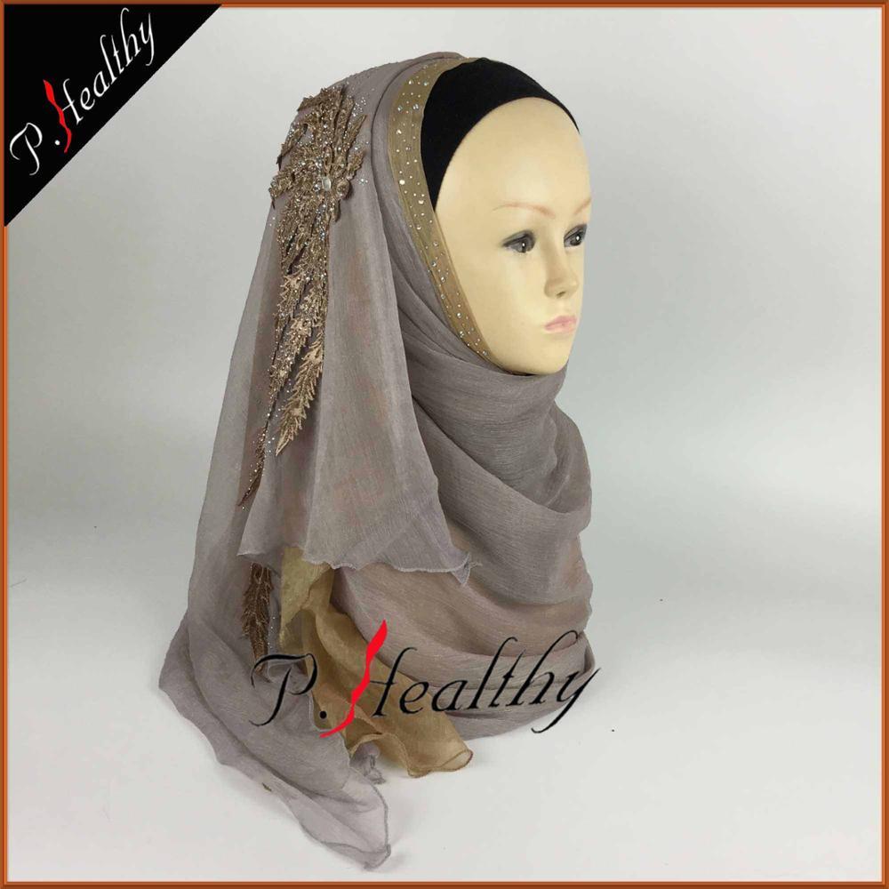 Свадебный хиджаб платок головной убор одежда модная свадебная шаль шарфы Муслин, можно выбрать Цвета, phw001 - Цвет: color9