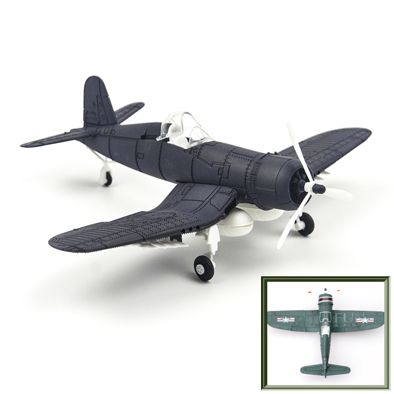 6 Colors 1 48 4d Assemble military Models Toys building sets Aircraft airplane F4U carrier based plane Fighter Diecast War II in Model Building Kits from Toys Hobbies