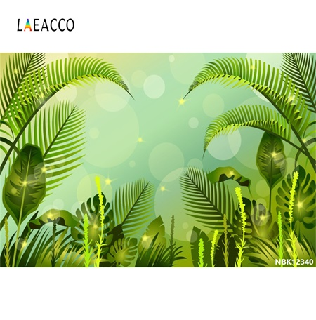 Laeacco Vintage Tropical Rainforest Banana leaf Light Bokeh Baby Natural Scene Photo Backgrounds Photo Backdrop For Photo Studio