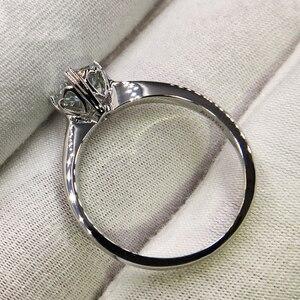 Image 5 - 925 sterling zilver 1ct 2ct 3ct Ronde Briljant Geslepen Ring Diamant Moissanite hartvormige ring Engagement sieraden Anniversary