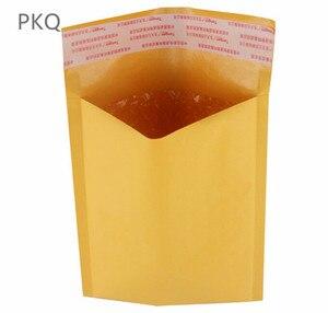 Image 4 - Offre spéciale 30 pièces jaune Kraft mousse enveloppe sac différentes spécifications Mailers rembourré expédition enveloppe avec bulle sac dexpédition