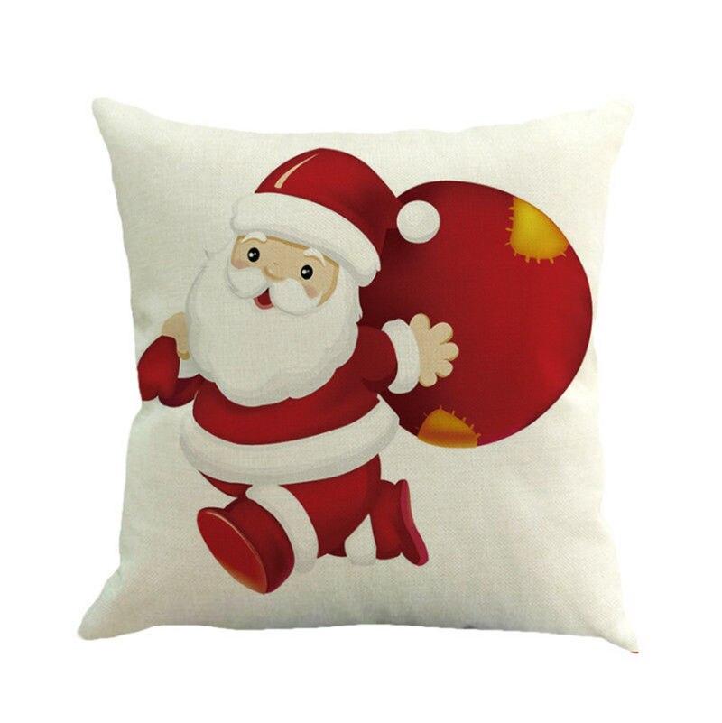 Navidad Fundas De Almohada cama casa Navidad algodón a prueba de ...