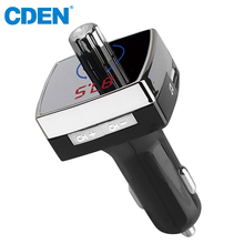 цена на Bluetooth FM Transmitter Adapter Car Kit MP3 Audio Player with Dual USB Car Charger Support SD TF Card Hands-Free Calling