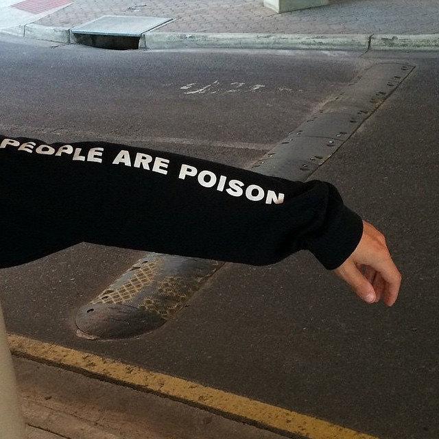 HTB1WUR8QVXXXXaeXpXXq6xXFXXXb - Black Hoodie Sweatshirt People Are Poison Rose
