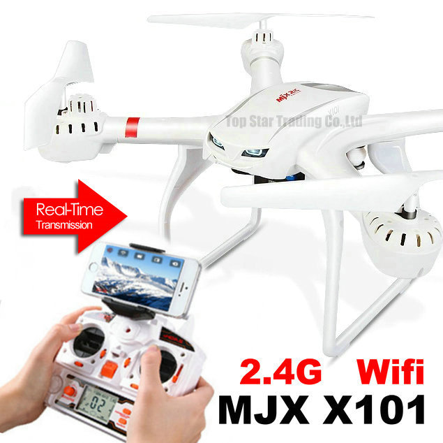 MJX Toys X101 Newest Design RC Quadcopter X101 2.4GHz 4CH 6-Axis Gyro Drone Can Take Wifi Camera C4005 Cell Phone Video