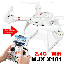 Juguetes MJX X101 más nuevo diseño RC Quadcopter X101 2.4 GHz 4CH 6-Axis Gyro Drone puede tomar Wifi de la cámara C4005 teléfono celular de vídeo
