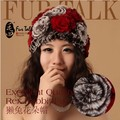 2014 New Genuine Rex Rabbit Fur Hat Women's Knitted Rabbit Fur Cap Real Rabbit Fur Headwear Winter womens Hat Free shipping