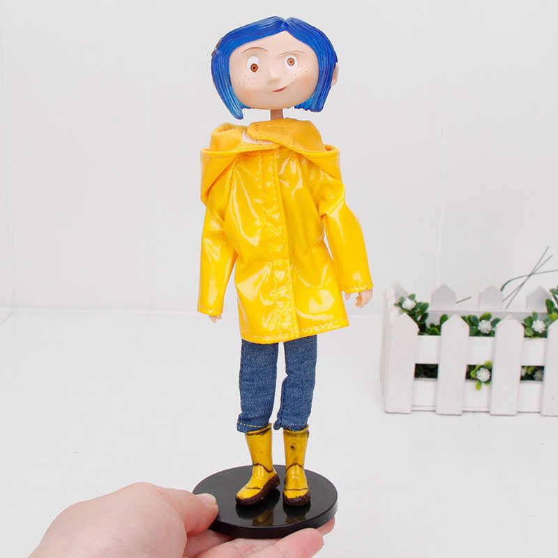 Neca Coraline The Secret Door Dolls Action Figure Toys 18cm Raincoats Version Caroline Girl Christmas Toy Action Toy Figures Aliexpress