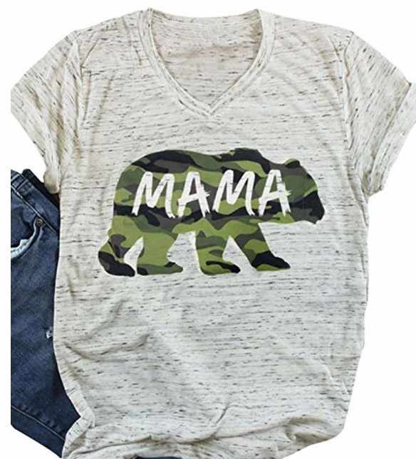 83f1a7b74b7b66 Style women t-shirts tee mama bear top womens fashion female tshirt t love  thankful