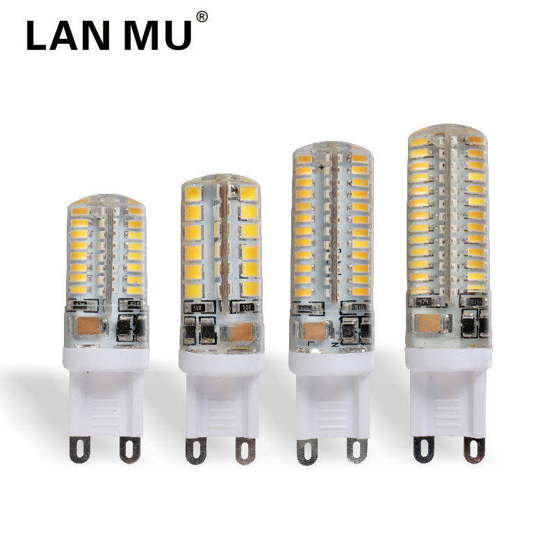 LAN MU G9 LED 220V 2W 3W 4W 5W Corn Bulb 360 degrees SMD3014 2835 g9 bulbs High Quality Chandelier Light Replace Halogen Lamp lan mu g9 led lamp bulb ac 220v 230v 240v 3w 4w 5w 7w 2835 smd ceramic led light bulb replace halogen g9 for chandelier