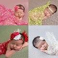 Прекрасный Новорожденный Ребенок Кисточкой Фон Обернуть Ткань Фотография Фото Опора Наряды