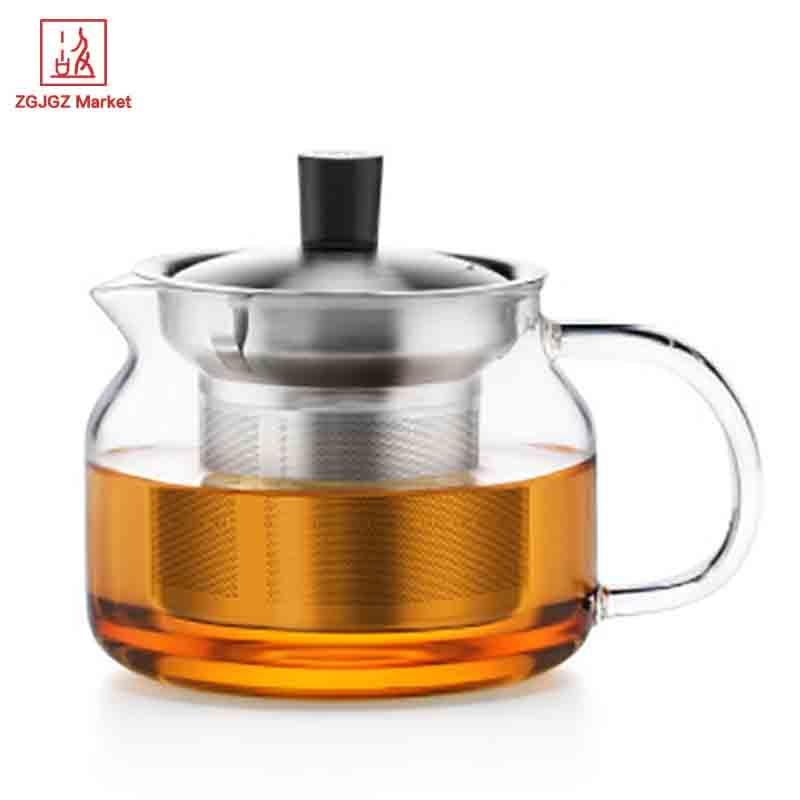 Samadoyo 470 ml de vidrio infusor tetera de vidrio taza de té - Cocina, comedor y bar